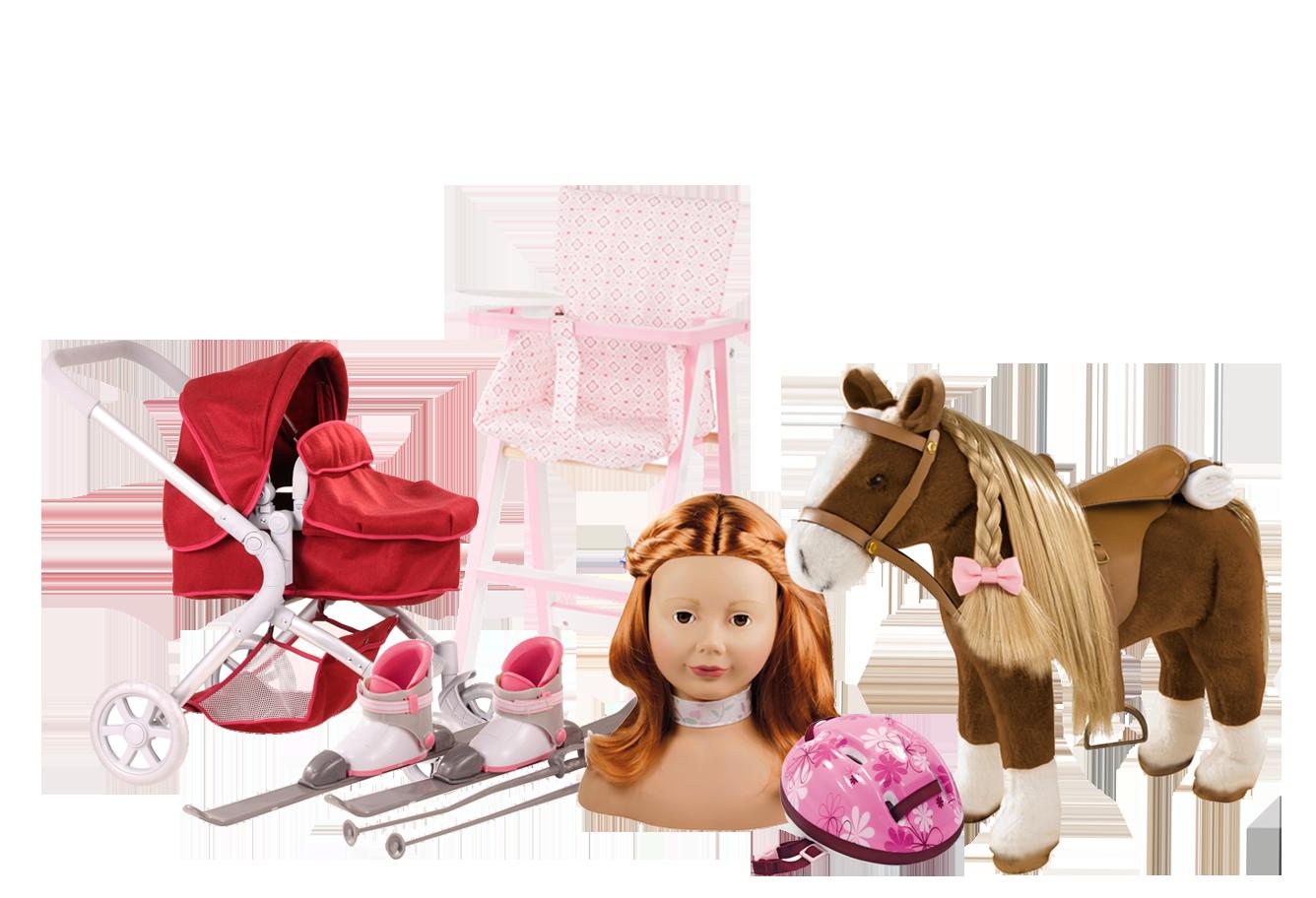 Child Doll Accessories 45-50cm, XL