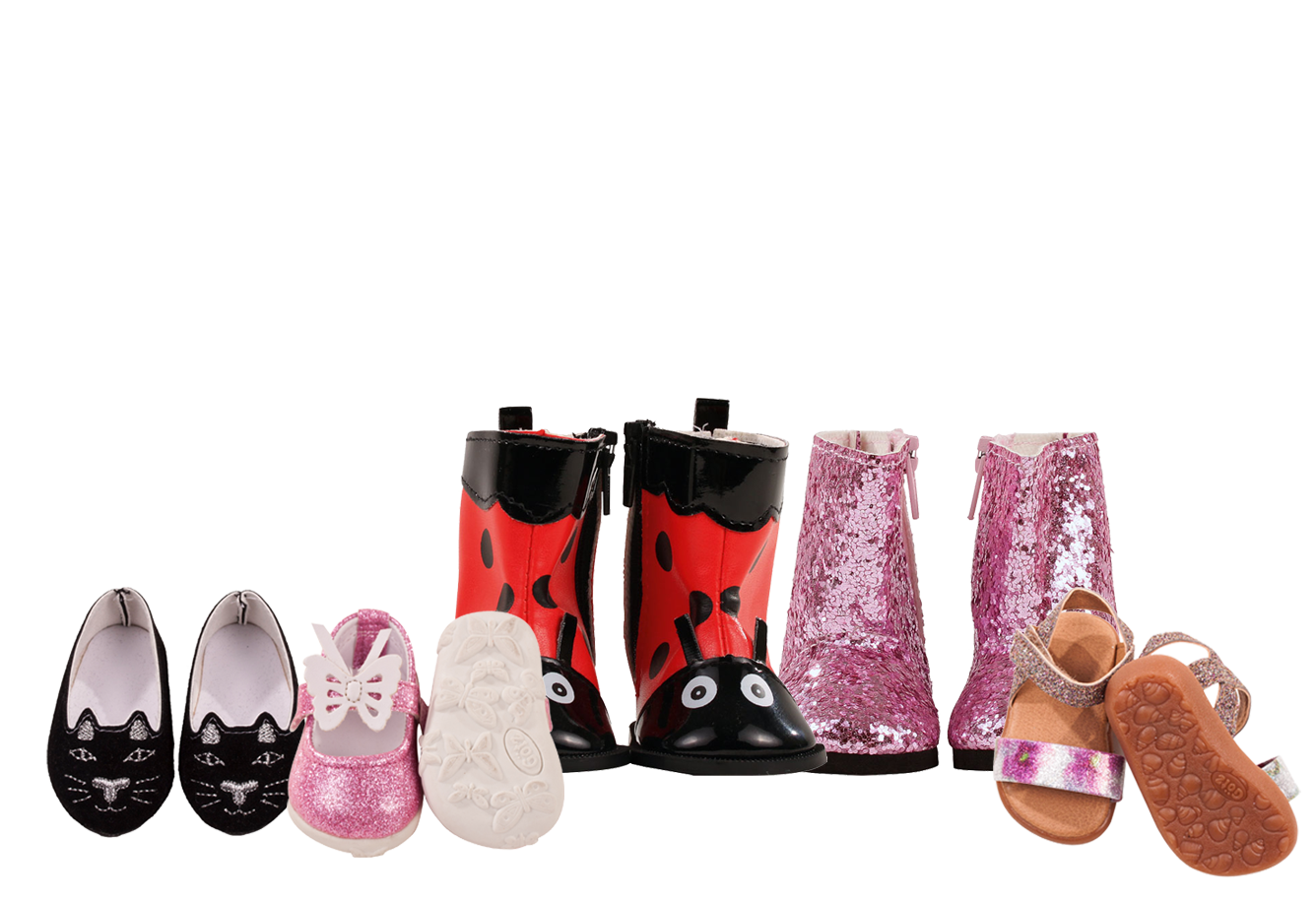 Girl Doll Shoes 45-50cm, XL