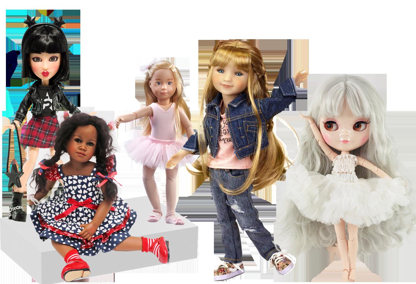 Fashion & Action Dolls