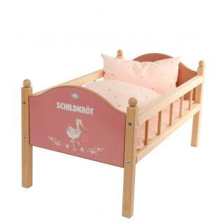 Schildkrot Wooden Painted Doll Bed 50cm