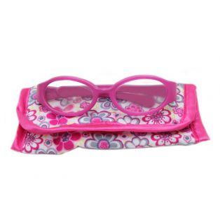 Oval Framed Reading Glasses & Case (Pink)