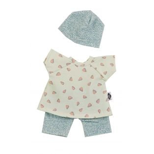 Schildkrot Schmuserle Blue With Hearts Outfit 28cm
