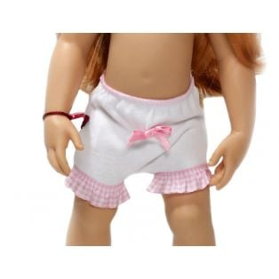 Knickers - WE LOVE Pink & White Gingham Cotton Knickers (Slim)