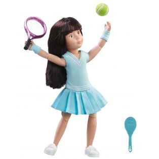 Kruselings Luna Tennis Practice Action Doll 23cm