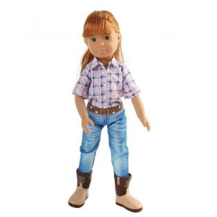 Kruselings Chloe Riding Cowgirl Action Doll 23cm