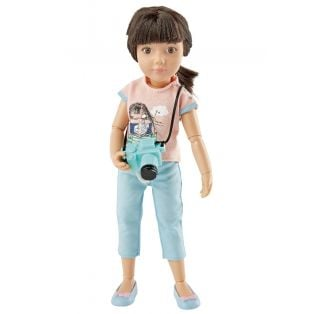 Kruselings Luna Cute Photographer Action Doll 23cm
