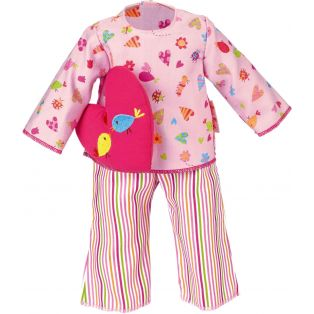 Kathe Kruse Pyjama Set With Heart Pillow 39-41cm