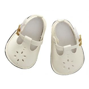 Astrup Doll Shoes, Cream, 9 x 5cm
