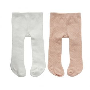 Astrup Tights, 2 Pairs Pink/White 40-45cm