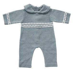 Astrup Knitted Blue Romper 40-45cm
