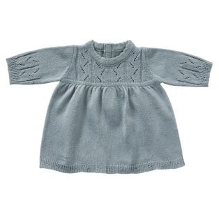 Astrup Blue Knitted Dress 46-52cm