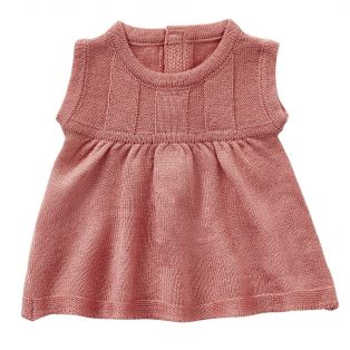 Astrup Knitted Dress, Rose, 40-45cm