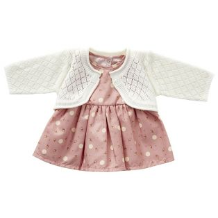 Astrup Sleeveless Pink Dress & Knitted Cardigan 35cm