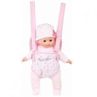 Baby Doll Carrier in Pink and White fits dolls up to 36cm