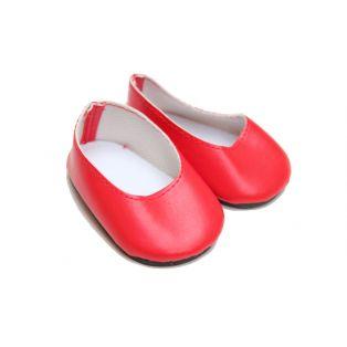 Lipstick Red Matt Slip-On Shoes