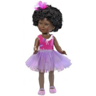 Vestida de Azul Paulina 33cm Doll (African - Pink Swimsuit & Lilac Skirt)