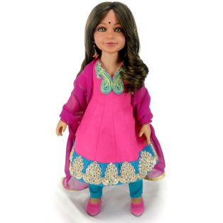 Carpatina Diya Indian Doll (Green Eyes)