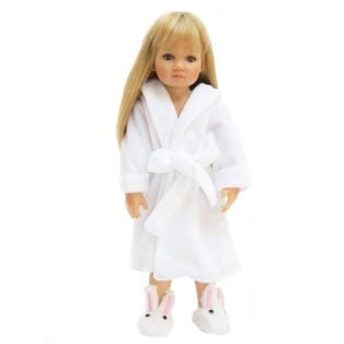 Dressing Gown 45-50cm (White Velour)