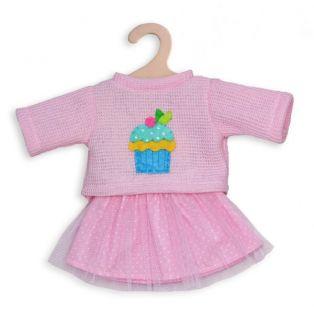 Heless Pale Pink Jumper & Skirt 28 -35cm