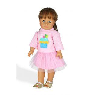 Heless Pale Pink Jumper & Skirt 28 -35cm alternate image