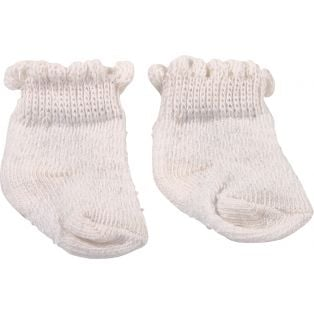 Socks - Gotz White Frilly Ankle Socks 30-50CM, S, M, L, XL