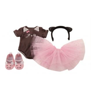 Ballet - Gotz Cat Outfit 4 Piece Set, XL