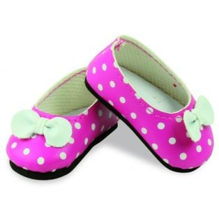 Petitcollin Minouche Pink Spotted Shoes