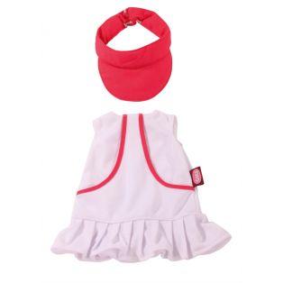 Tennis - Gotz White and Pink Tennis Dress & Cap, XL