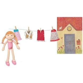 Egmont Toys Olivia Rag Doll In Her Case With Clothes alternate image