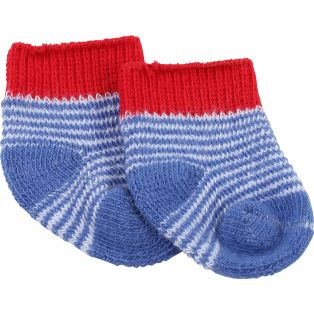 Socks - Gotz Blue Striped Ankle Socks 30-50cm S, M, L, XL