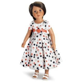 Carpatina Peach Polka Dot Dress