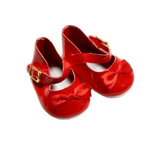 Mary Jane With Bow & Buckle (Red Patent)