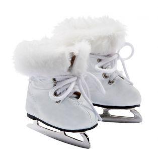Gotz Little Kidz White Ice-Skating Boots XM, 36cm