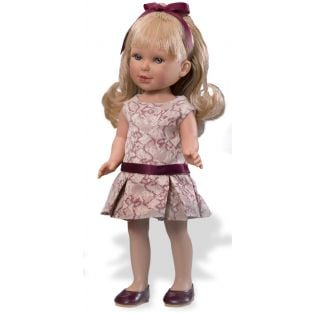 Vestida de Azul Paulina 33cm Doll (Blonde - Cream & Burgundy Dress)