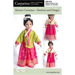 Doll Paper Sewing Pattern: Korean Costumes
