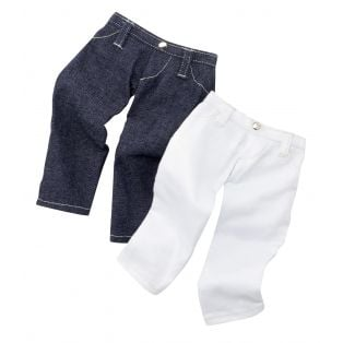 Gotz Blue & White Jeans (Pack of 2 Jeans), XL