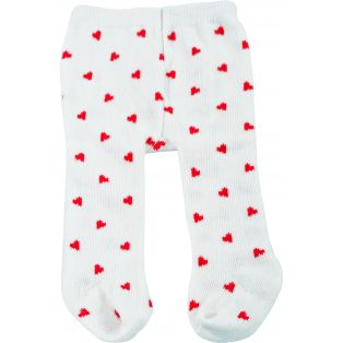 Tights - Gotz White With Hearts