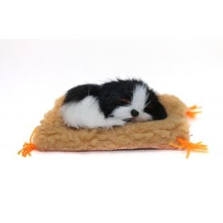 Small Dog On A Blanket 8cm Style 3
