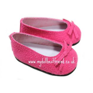 Pink Suedette Ballet Shoes