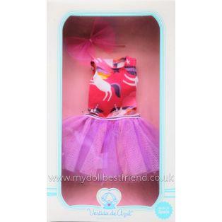 Vestida de Azul PAULINA Pink Swimsuit & Lilac Skirt Clothing 33cm