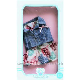Vestida de Azul PAULINA Sleeveless Floral Dress & Waistcoat Clothing 33cm
