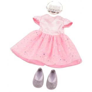 Gotz Pink Princess Dress & Silver Shoes, XL