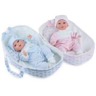 Marina & Pau Alex 38cm Baby Girl In Crib, Cries and Sucks Her Thumb alternate image