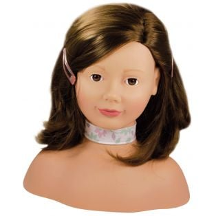 Gotz Hair Styling Doll Head - Brown