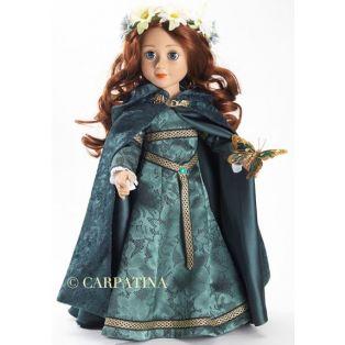 Carpatina Green Velvet Cloak