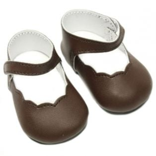 Mary Janes, 7.4cm (Brown)