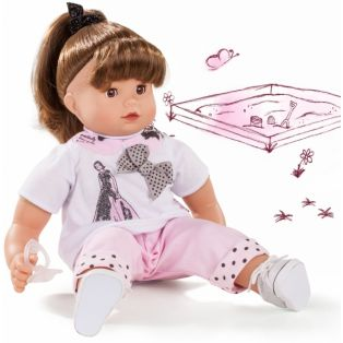 Gotz Maxy Muffin Baby Doll Ladies & Spots, Brunette, 42cm, M