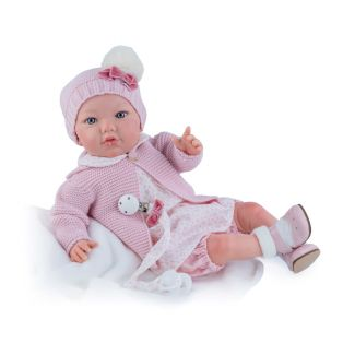 Marina & Pau Starter Reborn Baby Doll Ashley In Pink 43cm