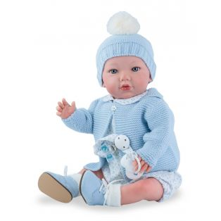 Marina & Pau Starter Reborn Baby Doll Ashley In Blue 43cm