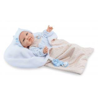 Marina & Pau Newborn Vinyl Baby Boy Doll Arnie 43cm